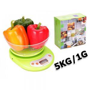Keukenweegschaal met kom groen