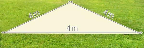 Schaduwdoek driehoek 4 meter
